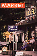 Grocery store in Redcrest, California on the Avenue of the Giants in Humboldt County, California.