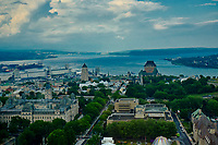 """Algonquian people had originally named the area Kébec, meaning """"where the river narrows"""", because the Saint Lawrence River narrows proximate to the promontory of Quebec and its Cape Diamant. <br /> Explorer Samuel de Champlain founded a French settlement here in 1608, and adopted the Algonguin language term. Quebec City is one of the oldest European cities in North America. <br /> The ramparts surrounding Old Quebec are the only fortified city walls remaining in the Americas north of Mexico. <br /> This area was declared a World Heritage Site by UNESCO in 1985 as the """"Historic District of Old Québec""""."""