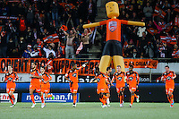 Joie Jordan AYEW / groupe Lorient - 20.12.2014 - Lorient / Nantes - 19eme journee de Ligue 1 -<br /> Photo : Vincent Michel / Icon Sport