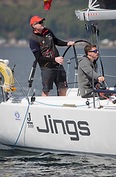 Lights winds dominated the Pelle P Kip Regatta  at Kip Marine weekend of 12/13th May 2018<br /> <br /> GBR8543R, Jings, Robin Young, CCC, J109<br /> <br /> Images: Marc Turner