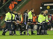 Belgium's Dries Mertens gets stretchered off<br /> <br /> - European Qualifier - Belgium vs Wales- Heysel Stadium - Brussels - Belgium - 16th November 2014  - Picture David Klein/Sportimage