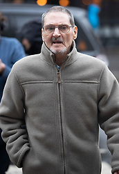 """© Licensed to London News Pictures. 20/11/2018. London, UK. Terry Lubbock arrives at the High Court. Mr Lubbock's son Stuart died at a party hosted by entertainer Michael Barrymore at his home in 2001.  Essex police force is challenging a ruling that Mr Barrymore is entitled to """"more than nominal"""" damages over his wrongful arrest which he says destroyed his career. Photo credit: Peter Macdiarmid/LNP"""