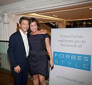 GRAHAM CLEMPSON; EMMA FORBES, Emma Forbes Style launch. Hix, Selfridges. 29 September 2010. -DO NOT ARCHIVE-© Copyright Photograph by Dafydd Jones. 248 Clapham Rd. London SW9 0PZ. Tel 0207 820 0771. www.dafjones.com.