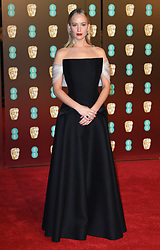 Jennifer Lawrence attending the EE British Academy of Film awards (BAFTA) at the Royal Albert Hall, London. Photo credit should read: Doug Peters/EMPICS Entertainment