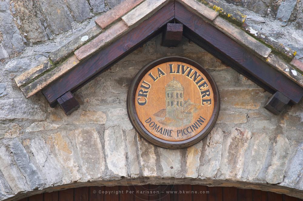Cru la Liviniere Domaine Piccinini in La Liviniere Minervois. Languedoc. France. Europe.