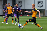 Newport County's Ryan Haynes (3) in action during the EFL Sky Bet League 2 match between Newport County and Tranmere Rovers at Rodney Parade, Newport, Wales on 17 October 2020.