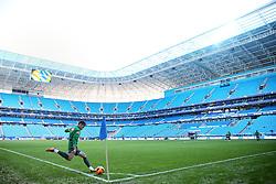 Neymar durante sessão de treino da seleção brasileira de futebol na Arena fo Grêmio, em Porto Alegre (RS), neste sábado. O time enfrenta a França em amistoso marcado para amanhã, em Porto Alegre (RS). FOTO: Jefferson Bernardes/Preview.com