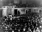 President Hoover addresses joint session of Congress at bicentennial ceremony commemorating the 200th anniversary of the birth of George Washington 1932