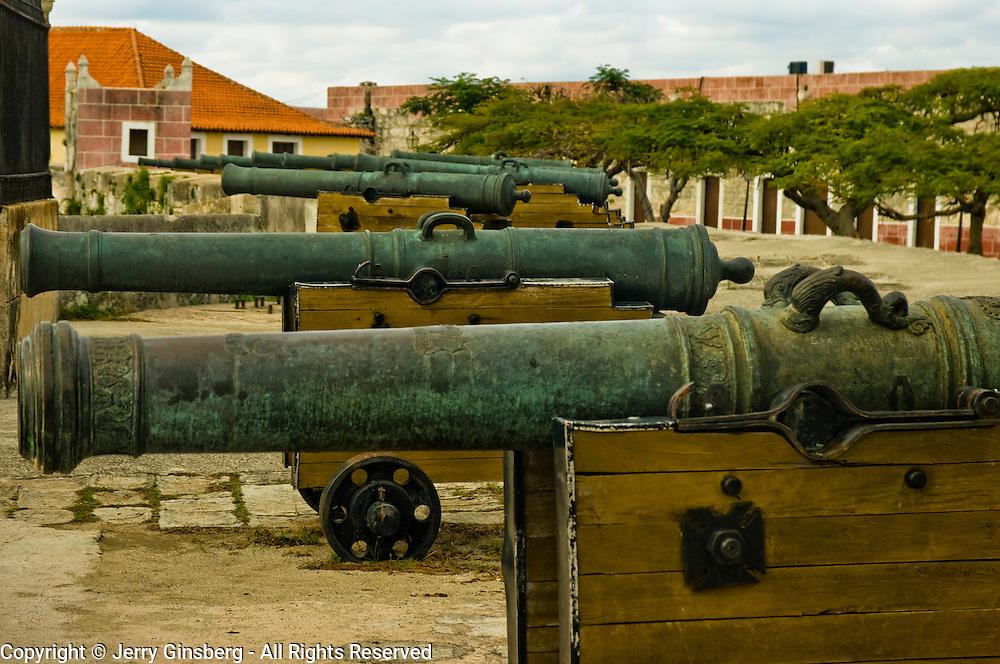 Ancient Fortress de San Carlos de la Cabana (Cabana) still guards the entrance to Havana, Habana harbor, Cuba.