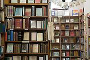 Bookshelves at Ulysses Rare Books on 04th April 2017 in Dublin, Republic of Ireland. Dublin is the largest city and capital of the Republic of Ireland.