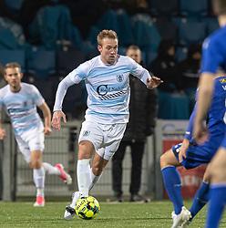 Jonas Henriksen (FC Helsingør) under kampen i 1. Division mellem HB Køge og FC Helsingør den 4. december 2020 på Capelli Sport Stadion i Køge (Foto: Claus Birch).