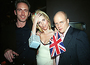 Tom Shone; Lucy Sykes and Toby Young. Plum & Lucy Sykes 30th birthday. Lot 61,  550 West 21 St. NY.   4/12/99<br /> © Copyright Photograph by Dafydd Jones 66 Stockwell Park Rd. London SW9 0DA Tel 020 7733 0108 www.dafjones.com