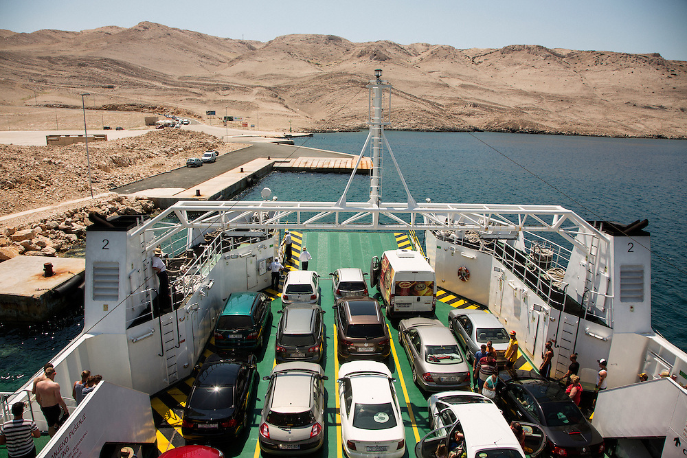 Travel in Croatia<br /> <br /> Arriving on Pag Island on the ferry.<br /> <br /> June 2013<br /> Matt Lutton