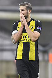 January 28, 2018 - Lier, BELGIUM - Lierse's Frederic Frans look dejected during a soccer game between Lierse SK and Royal Union Saint-Gilloise, in Lier, Sunday 28 January 2018, on day 24 of the division 1B Proximus League competition of the Belgian soccer championship. BELGA PHOTO LAURIE DIEFFEMBACQ (Credit Image: © Laurie Dieffembacq/Belga via ZUMA Press)