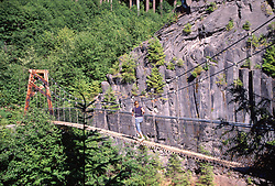 Suspension Bridge at Lava Canyon, Mt. St. Helens National Volcanic Monument, Washington, US