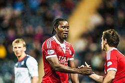 Aberdeen's Calvin Zola.<br /> Falkirk 0 v 5 Aberdeen, the third round of the Scottish League Cup.<br /> ©Michael Schofield.