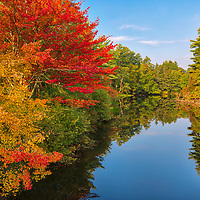 New England fall foliage peak colors at Millers River in Athol, Massachusetts. <br /> <br /> Massachusetts fall foliage photos are available as museum quality photo, canvas, acrylic, wood or metal prints. Wall art prints may be framed and matted to the individual liking and interior design decoration needs:<br /> <br /> https://juergen-roth.pixels.com/featured/millers-river-in-athol-massachusetts-juergen-roth.html<br /> <br /> Good light and happy photo making!<br /> <br /> My best,<br /> <br /> Juergen