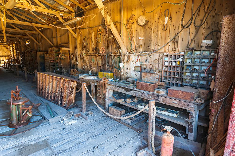 Ranch equipment at Beechers Bay, Santa Rosa Island, Channel Islands National Park, California USA