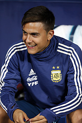 March 22, 2019 - Madrid, Madrid, Spain - Argentina's Paulo Bruno Dybala seen seated on the bench during the International Friendly match between Argentina and Venezuela at the wanda metropolitano stadium in Madrid. (Credit Image: © Manu Reino/SOPA Images via ZUMA Wire)