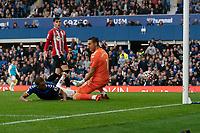 Football - 2021 / 2022 Premier League - Everton vs Southampton - Goodison Park - Saturday 14th August 2021.<br /> <br /> <br /> Everton's Dominic Calvert-Lewin scores his sides third goal <br /> <br /> <br /> Credit COLORSPORT/Terry Donnelly