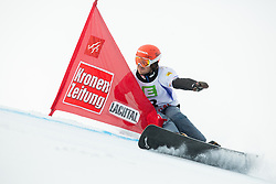 Zan Kosir of Slovenia competes during 1/8 Finals of the Men's Parallel Giant Slalom at FIS World Championships of Snowboard and Freestyle 2015, on January 23, 2015 at the WM Piste in Lachtal, Austria. Photo by Vid Ponikvar / Sportida