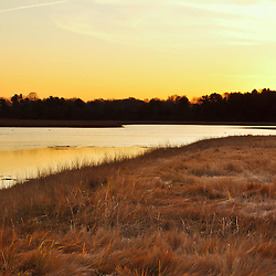 Dawn over a tidal creek in Rye, New Hampshire.