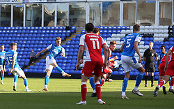 Jack Taylor of Peterborough United scores his sides equalising goal against Fleetwood Town - Mandatory by-line: Joe Dent/JMP - 19/09/2020 - FOOTBALL - Weston Homes Stadium - Peterborough, England - Peterborough United v Fleetwood Town - Sky Bet League One