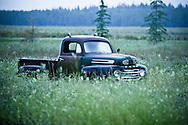 ©Randy Vanderveen© 2007 Randy Vanderveen, all rights reserved.Grande Prairie, Alberta.An old Ford pickup sits in a field east of the city as a reminder of bygone years prior to the sun rising Wednesday morning. Pickups and SUVs continue to remain popular among Peace Country motorists despite rising fuel costs.
