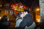 NO FEE PICTURES<br /> 30/12/15 Chantelle Cronje, South Africa and Joe Kingslake, England, who just got engaged while in Ireland at the Luminosity 3D animations on the Department of Foreign Affairs on St Stephens Green, part of the New Years Festival in Dublin. nyf.com running from 30th Dec to 1st Jan in Dublin. Picture: Arthur Carron
