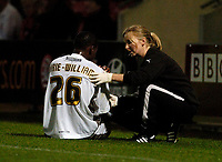 Photo: Leigh Quinnell.<br /> AFC Bournemouth v Bristol City. Coca Cola League 1. 26/09/2006. Bristols Jennison Myrie-Williams is treated for a shoulder injury.