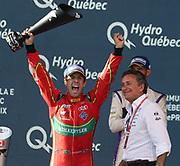 11, Lucas di Grassi (BRA) - ABT Schaeffler Audi Sport, ABT Schaeffler FE02, Celebration by the Winner of the FormulaE championship 2017, here with Alejandro AGAG, CEO Formula E - Podium - <br /> <br /> CANADA e-Prix,FIA Formula E Grand Prix in Montreal on 30 july, 2017 . Formel E in Montreal.fee liable image,copyright@  ATP / Patrice Lapointe