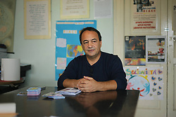 Italy - October 2, 2018.Domenico Lucano, Mayor of Riace arrested for allegedly aiding illegal immigration..Italy, Riace  (Reggio Calabria)- September 25, 2016.A tiny seaside town in southern Italy is bucking the usual trend of hostility towards foreign newcomers and has welcomed dozens of immigrants with open arms. .The new arrivals have been given homes in a number of empty buildings in the historic centre. Abandoned years ago as Riace's younger residents steadily emigrated abroad in search of work and excitement, these have now been recovered and have restored life to the heart of the town. .''The arrival of these newcomers has created a virtuous circle that has helped kick-start local development'', so mayor of Riace Mimmo Lucano..Mayor Lucano also said he is ready to welcome the immigrant workers fled from Rosarno..German director Wim Wenders, just shot his first 3-D film in Riace, the old empty Calabrian town and its new inhabitants. .Mayor Mimmo Lucano  (Credit Image: © Mollo/Fotogramma/Ropi via ZUMA Press)