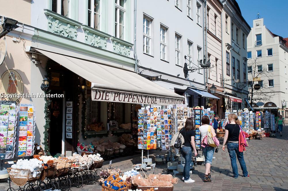 Shops in historic buildings in Nikolaiviertel district of Berlin 2009