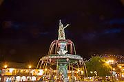 Statue of Pachacuti, Plaza de Armas, Cusco, Urubamba Province, Peru, fouantain