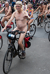 London, UK. 9th June, 2018. The London World Naked Bike Ride passes through Parliament Square. The World Naked Bike Ride is a global protest movement which organises rides in cities around the world to raise awareness of issues such as road safety for cyclists and reducing our dependency on oil.