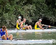 Ottensheim, AUSTRIA.  A  Final,  Men's coxed pair, , at the 2008 FISA Senior and Junior Rowing Championships,  Linz/Ottensheim. Sunday,  27/07/2008.  [Mandatory Credit: Peter SPURRIER, Intersport Images] Rowing Course: Linz/ Ottensheim, Austria