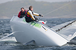 Day one of the Silvers Marine Scottish Series 2015, the largest sailing event in Scotland organised by the  Clyde Cruising Club<br /> Racing on Loch Fyne from 22rd-24th May 2015<br /> <br /> GBR179, Abracadabra, Howard Stevenson, Tynemouth SC<br /> <br /> Credit : Marc Turner / CCC<br /> For further information contact<br /> Iain Hurrel<br /> Mobile : 07766 116451<br /> Email : info@marine.blast.com<br /> <br /> For a full list of Silvers Marine Scottish Series sponsors visit http://www.clyde.org/scottish-series/sponsors/
