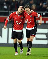 Jubel 2:2 v.l.  Torschuetze Jiri Stajner , Hanno Balitsch Hannover<br /> Bundesliga Hannover 96 - Hamburger SV 2:2<br /> <br /> Norway only