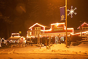 A winter storm in Wrightwood, California.