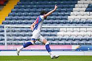 Goal 2-1 Blackburn Rovers forward Ben Brereton (20) scores a goal 2-1 and celebrates during the EFL Sky Bet Championship match between Blackburn Rovers and Birmingham City at Ewood Park, Blackburn, England on 8 May 2021.