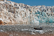King's Glacier in King's Fjord, western Spitsbergen, Svalbard.