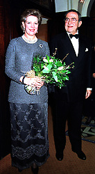 Their Majesties EX KING CONSTANTINE and QUEEN ANNE-MARIE OF GREECE, at a concert in London on 20th January 2000.OAF 25