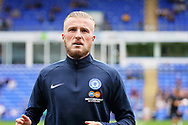 Peterborough United midfielder George Cooper (19) before the EFL Sky Bet League 1 match between Peterborough United and Luton Town at London Road, Peterborough, England on 18 August 2018.