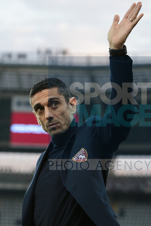 Moreno Longo Head coach of Torino FC waves to fans during the Serie A match at Stadio Grande Torino, Turin. Picture date: 8th February 2020. Picture credit should read: Jonathan Moscrop/Sportimage