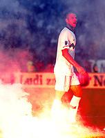 Fotball<br /> Slovenia v Serbia<br /> 11.10.2011<br /> Foto: Gepa/Digitalsport<br /> NORWAY ONLY<br /> <br /> UEFA Europameisterschaft 2012, Qualifikation, Laenderspiel, Slowenien vs Serbien. <br /> <br /> Bild zeigt Bostjan Cesar (SLO)