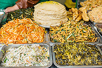 traditional chinese street food cuisine in Shanghai in the popular republic of China