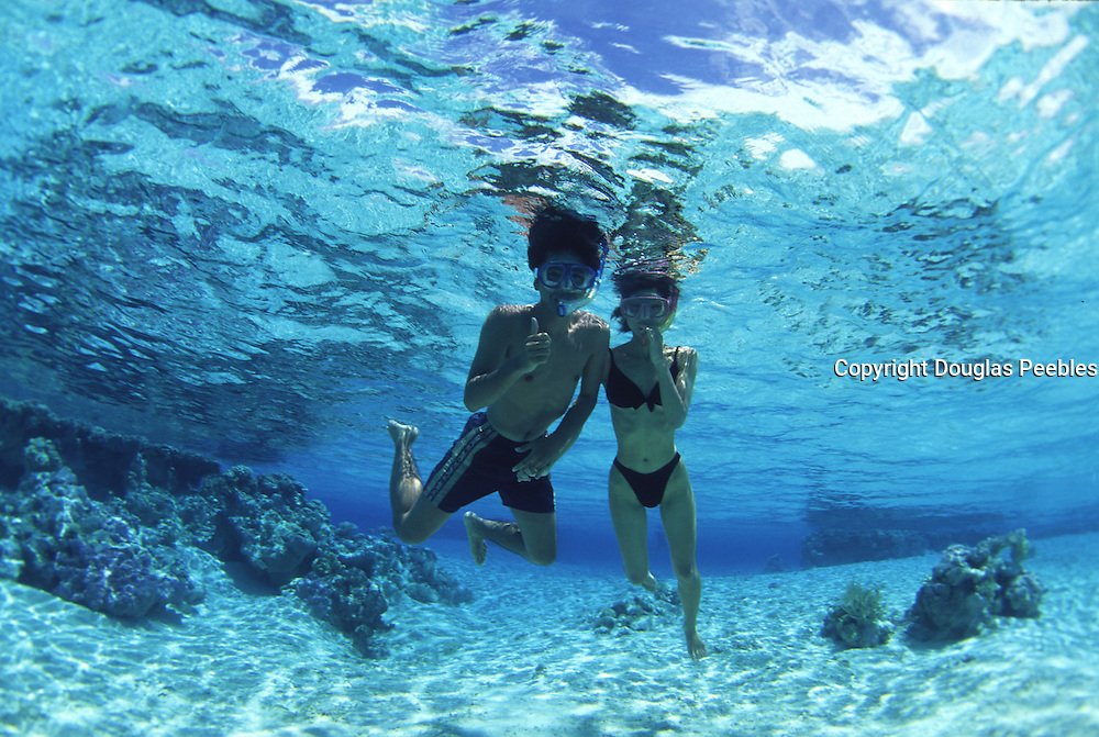 Snorkling, French Polynesia, (editorial use only, no model release)<br />