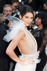 Kendall Jenner arriving on the red carpet of 'Girls Of The Sun (Les Filles Du Soleil)' screening held at the Palais Des Festivals in Cannes, France on May 12, 2018 as part of the 71th Cannes Film Festival. Photo by Nicolas Genin/ABACAPRESS.COM