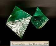 Green Fluorite from Westmoreland Mine, New Hampshire USA. Photographed at the Natural History Museum, Vienna, Austria