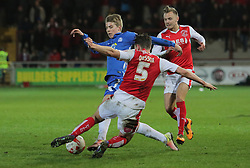 Martin Samuelsen of Peterborough United skips past Eggert Jonsson of Fleetwood Town - Mandatory by-line: Joe Dent/JMP - Mobile: 07966 386802 - 05/04/2016 - FOOTBALL - Highbury Stadium - Fleetwood, England - Fleetwood Town v Peterborough United - Sky Bet League One